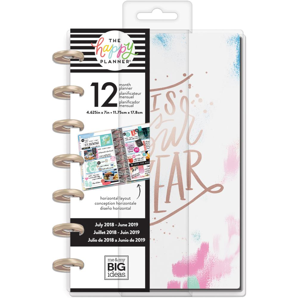 The Happy Planner - Mini Planner - Brushi Brights - 12 Month Dated Planner